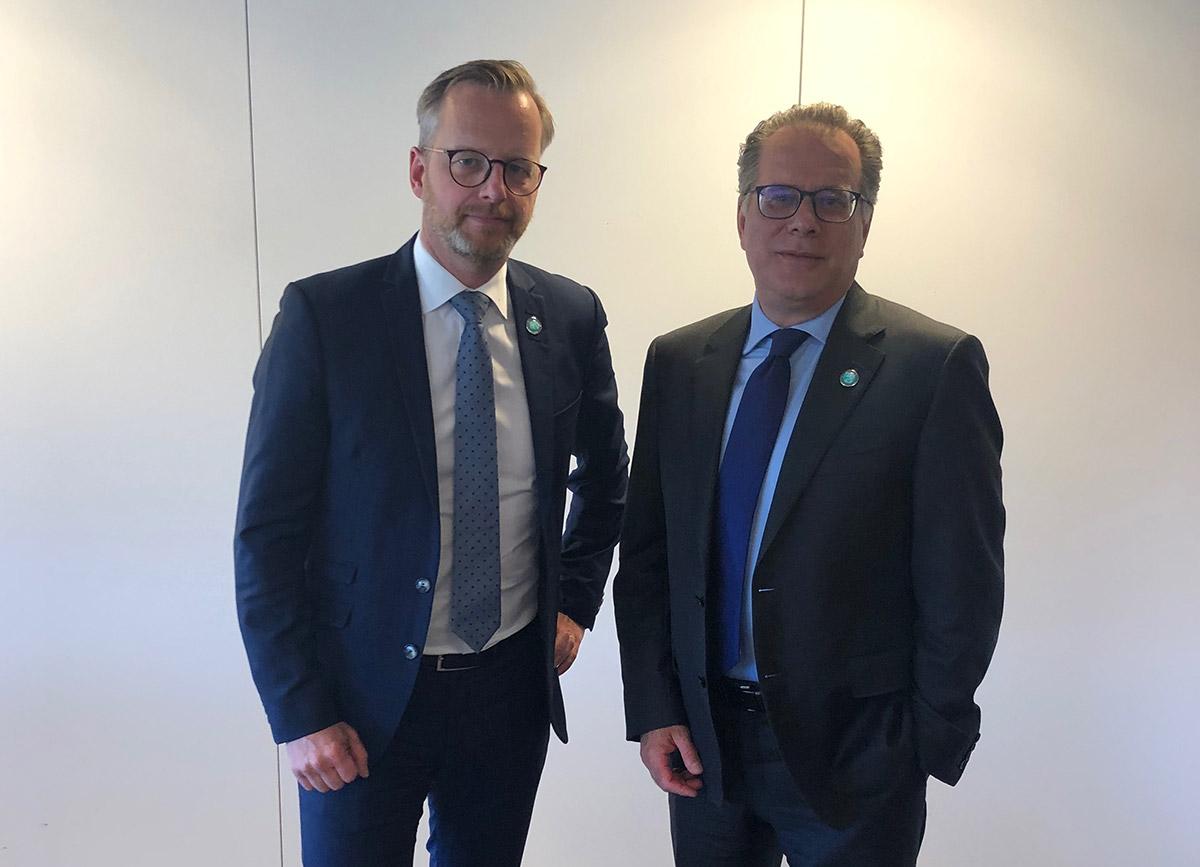 Συνάντηση με τον Υπουργό Εσωτερικών της Σουηδίας κ. Mikael Damberg